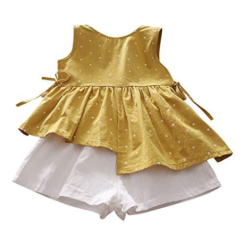 Oliviavan Ropa Beb/é Ni/ñas Vestido Verano Vestido Ni/ños Sin Manga Color s/ólido Vestido de Chaleco Vestidos de Fiesta de Princesa Ocio Vestido de Playa