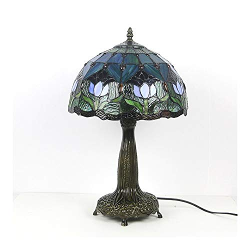 SCAYK Lámpara de vidrieras de Manchas para dormitorios lámpara de Noche