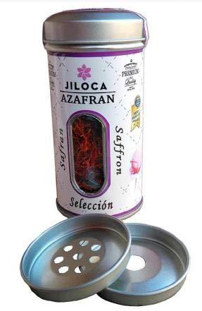 Azafrán en Hebras - Especiero Metálico 10GR - Azafrán 100% español - Azafrán del Jiloca - Azafrán de Teruel - Azafrán para Paella (10)