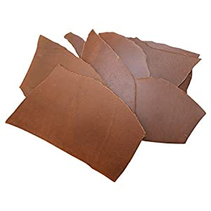 Hide & Drink, Cow Leather Chips & Scraps, Trimming Thick Pieces (3.5mm), Craft & Workshop (12 Ounce) :: Single Malt Mahogany