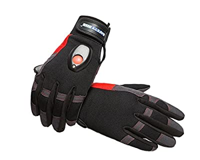 SAFETY-INXS Breathable Mechanic Gloves, Multifunctional Safety General Utility Gloves for Work Sport, Improved Dexterity, Full Finger Outdoor Glove Black, Washable, Large