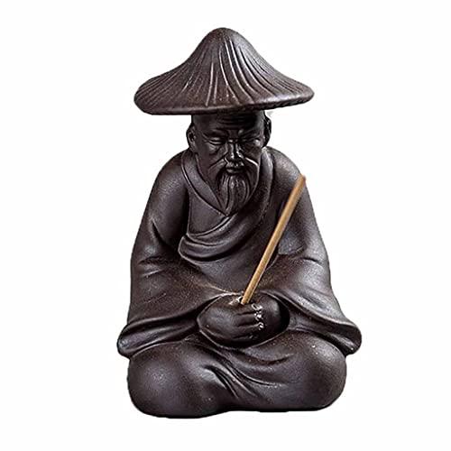 ZYING Mini artesanías de cerámica Base de Incienso de Arcilla púrpura Chan Aroma Quemador Incienso Titular té Mascota doméstico decoración