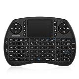 Mini Tastiera 2.4GHz Wireless Mini Tastiera con Touchpad, Batteria Ricaricabile, 92 Tasti, Scroll Wheel, DPI funzioni Regolabili, 3 in 1 Multifunzione, per Mini PC, Android TV Box