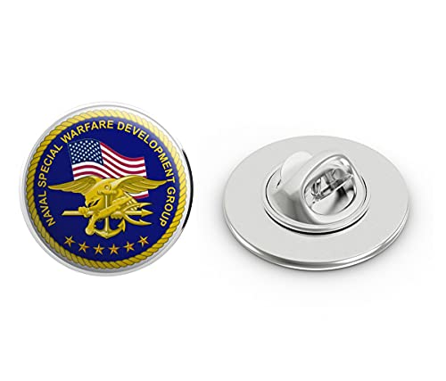 "US Navy United States Navy Seal Team 6 Devgru Military Veteran USA Pride Served Gift Metal 0.75"" Lapel Hat Pin Tie Tack Pinback"