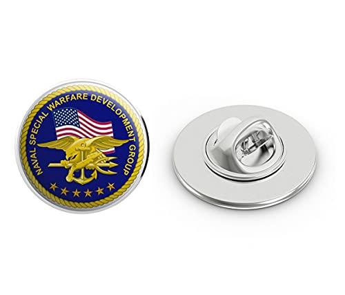 US Navy United States Navy Seal Team 6 Devgru Military Veteran USA Pride Served Gift Metal 0.75' Lapel Hat Pin Tie Tack Pinback