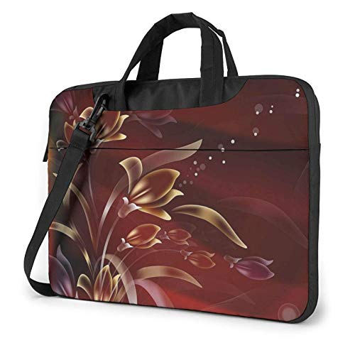 XCNGG Laptop Bag, Retro Flower Pattern Business BriefcaseBag Cover for Ultrabook, MacBook, Asus, Samsung, Sony, Notebook 13 inch