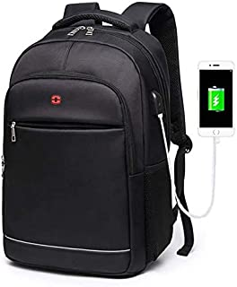 School Backpack Teens Boys School Bags for Teenagers Backpacks Laptop Men Nylon Charging USB Black Student High Schoolbag ...