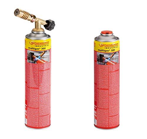 Rothenberger Industrial Hot Pack Set - Lötset inkl. Lötbrenner und 2X Multigaskartuschen