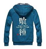 Gumstyle Anime Tokyo Ghoul Kaneki Ken Thicken Hoodie Jacket Adult Cosplay Zipper Sweatshirt Coat Cardigan Blue S