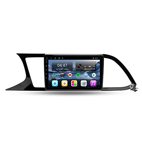 Buladala Android 10 GPS Autoradio Navigazione Stereo per Seat Leon 3 2012-2020, con 9'' QLED Screen Supporto Sistemi Video/Chiamate Bluetooth/FM AM RDS DSP SWC/Carplay Android Auto,M100