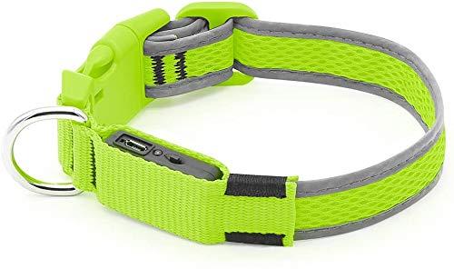 Mebix TRD Collar para Perro con luz reflejante