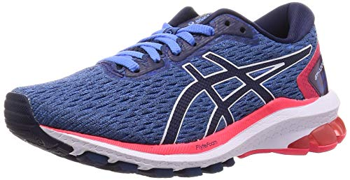 ASICS Womens GT-1000 9 Running Shoe, Blue Coast/Peacoat, 38 EU
