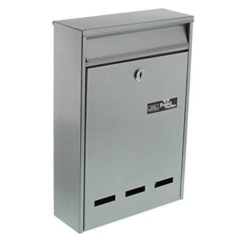 BURG-WÄCHTER Anlagenbriefkasten, A5 Einwurf-Format, Verzinkter Stahl, Pocket 5871 Si, Silber