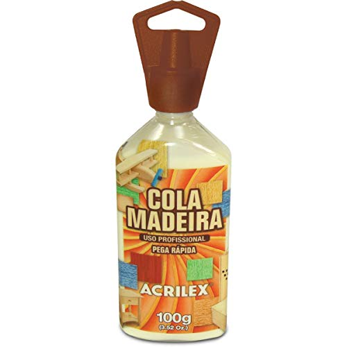 Cola para Madeira x 3 Unidades, Acrilex 225100000, Multicor, 100 g
