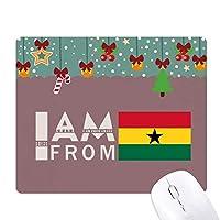 ガーナ出身 ゲーム用スライドゴムのマウスパッドクリスマス