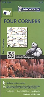 Michelin USA Four Corners Map 175 (Michelin Zoom USA Maps)