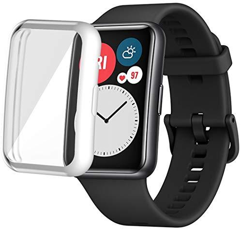 Shieranlee Fundas Compatible con Huawei Watch Fit Smartwatch Hombres Mujeres Watch Funda Soft TPU Shockproof Bumper Cover Estuche Protector de Pantalla para Huawei Watch Fit Accessories