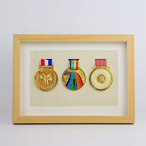 Porta medaglie running medaglie display Display di Legno medaglie e distintivi di pregio Cornice per oggetti,con membrana medaglie distintivi di pregio Runners Wall World Marathon Major Medal Display