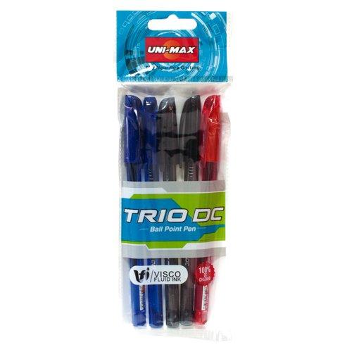 Plus Office Unimax Trio DC - Pack de 5 bolígrafos, multicolor