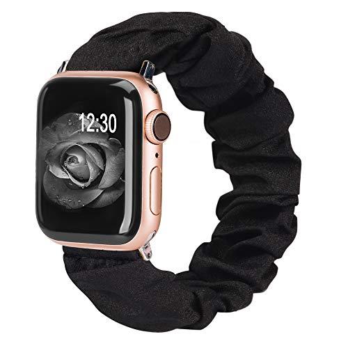 TOYOUTHS Kompatibel für Apple Watch Armband Scrunchies 38/40mm Solo Loop Ersatzarmbänder Frauen Niedliche elastische Bänder IWatch Series SE/6/5/4/3/2/1