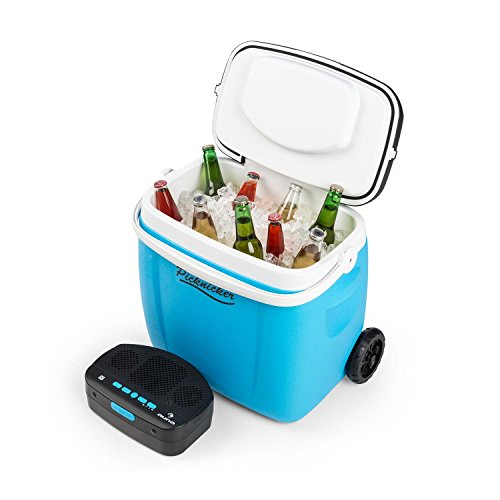 Auna Picknicker Trolley - Borsa Frigo Portatile con Altoparlante Cassa Bluetooth, 36 Litri, AUX, Maniglia di Trasporto e Ruote, Blu