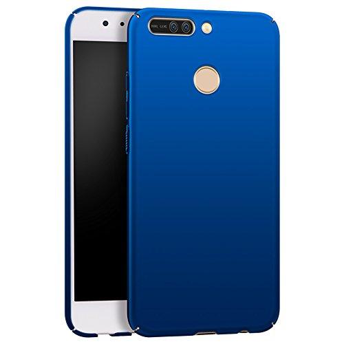 Apanphy Huawei Honor 8 PRO Cover, [Alta qualità] [Ultra Slim] [Hard Silky] [Scrub Shell] [Piena Protezione] [Pelle Posteriore] Custodia per Huawei Honor 8 PRO Blu