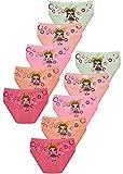 PiriModa Culottes pour Fille - Coton Doux/agréable - différents Motifs - Lot de 10 - modèle 14-8-9 Ans