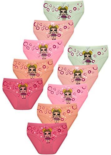 PiriModa 10 Pack Kinder Mädchen Baumwolle Slips (104/110, Modell 14)