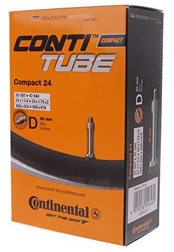 Continental Luftschlauch - Fahrrad Compact 24 Fahrradschlauch, Schwarz, 32/47-507/544