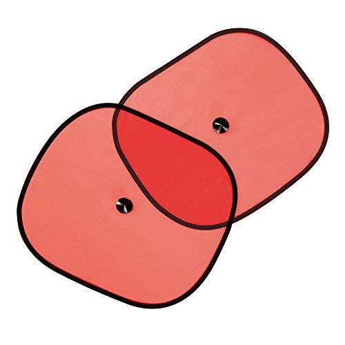 eBuyGB 12903 auto zonwering rolgordijnen, massief, rood, medium