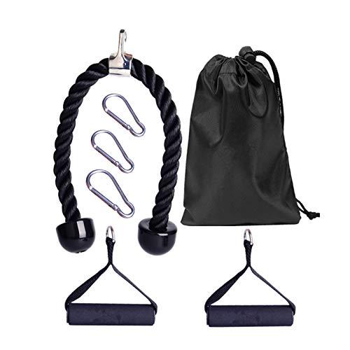 FYBlossom Unterarm Handgelenk Trainer, Pull Down Machine Cable Pulley System Set Kabel Maschine Anhängeseil Herunterziehen Kabel Aufsätze Für Fitnessstudio Heim Fitness Zubehör