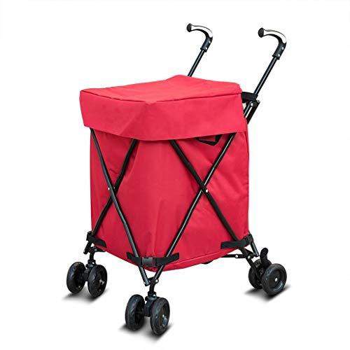 Trolley portátil del hogar, 82L de Gran Capacidad de Compras, de vejez...