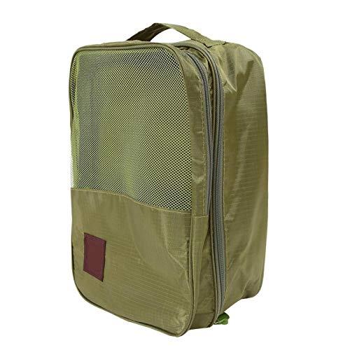 DAUERHAFT Organizador de Viaje de Nailon para Ropa, Impermeable, Plegable, para Viaje, Ligero, Duradero, para Viajes, Zapatos, Organizador de Ropa para Viajes, Viajes de Negocios,(Green)