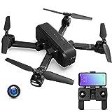 E-kinds Mi Drone, FPV WiFi avec caméra 4K 30Fps 1080P Cardan cardan Gimbal GPS RC Racing Drone Quadcopter RTF avec Drone émetteur pour Enfants,Black