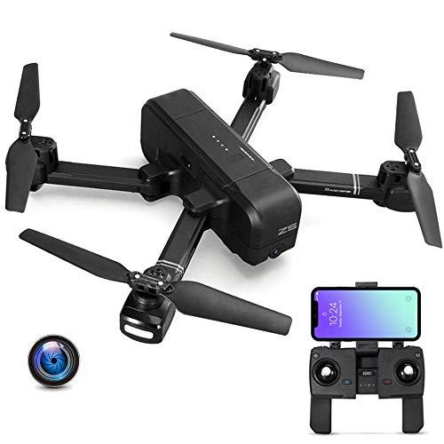 E-kinds Mi Drone, WiFi FPV mit 4K 30Fps 1080P Kamera 3-Achsen Gimbal GPS RC Racing Drone Quadrocopter RTF mit Sender Drone für Kinder,Black
