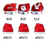 rosepartyh Weihnachtsmütze Baby Weihnachtsmützen Erwachsene Kinder Weihnachtsmann Santa Mütze Weihnachten Nikolausmütze Weihnachtsfeier 6 Pcs