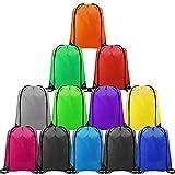 CHEPULA 12PCS Drawstring Backpack Bags Cinch Sacks String Portable Backpack Bulk DIY for School,Home,Travel,Sports&Storage