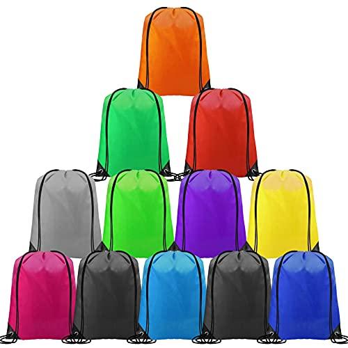 CHEPULA Drawstring Backpack Bags Cinch Sacks String Portable Backpack Bulk DIY for School,Home,Travel,Sports&Large Storage (Multicolor1, 12)