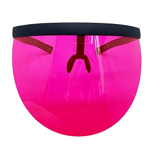 GAOYUAN Gafas de sol antipeeping para sol, gafas de sol de gran tamaño, gafas de sol de moda con espejo colorido, Black Frame Red, M
