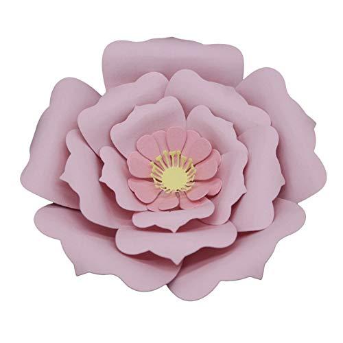 WOZOW Stanzschablone Scrapbooking Stanzmaschine Prägeschablonen einladung Grußkarte Geschenk Dekoration Schneiden Stanzformen Schablonen (L Blume Blütenblatt)