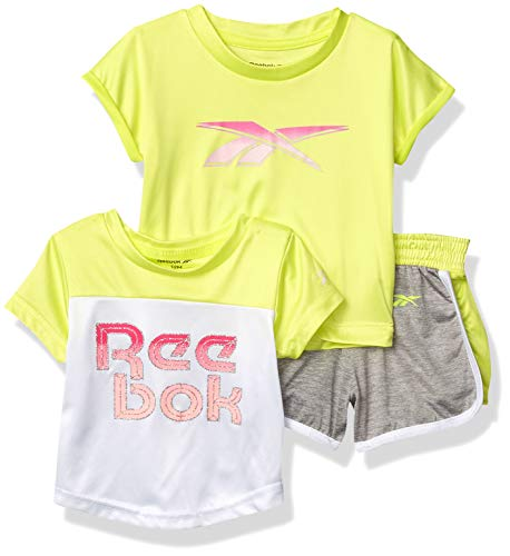 Reebok Baby Girls' Shorts Set, 3563 Lemon Tonic, 12M