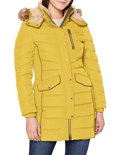 TOM TAILOR Damen Puffer Jacke, 24270-California Sand Yellow, XL