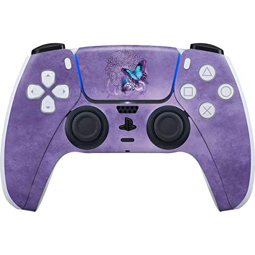 Skinit Decal Gaming Skin Compatible with PS5/PS5 Digital Edition DualSense Controller - Tate and Co. Butterfly Celtic Knot Design