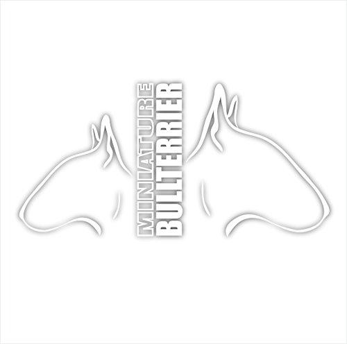 Siviwonder Auto Aufkleber MINI BULLTERRIER / BULLTERRIER Profil Hundeaufkleber white