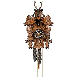 Hönes Cuckoo Clock 3-Leaves, Head of a Deer HO 1256/2