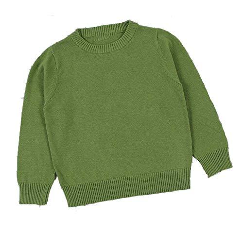 Autumn Baby Boys Girls Sweaters Kids Sweaters Winter Boys Knit Sweater Girls Ripped Sweater Toddler Green 6T