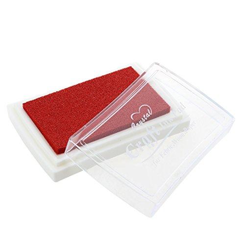REFURBISHHOUSE Stempelkissen Tinte Farbe Rot Fingerabdruck Geschenk fuer Kinder