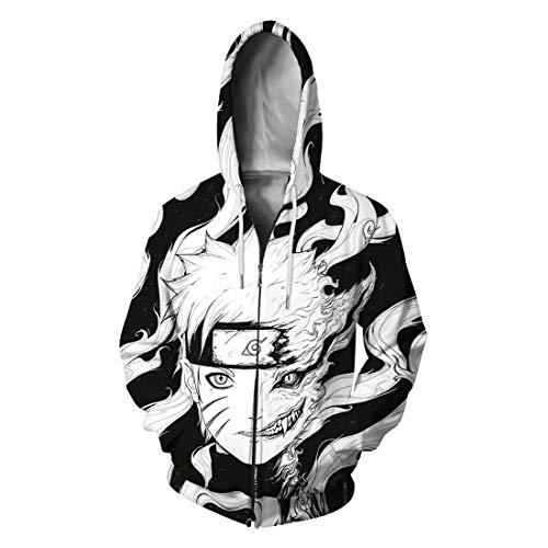 BAIMORE 3D Digital Print Japanese Anime Hoodie Sweatshirt Coat...