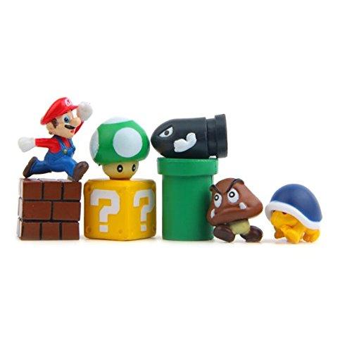 datex-bm Personajes Super Mario 10 Piezas Nevera 3D, imanes para pancartas para Calendari, Pared de Metal Adornos Decoración collezionismo Nintendo