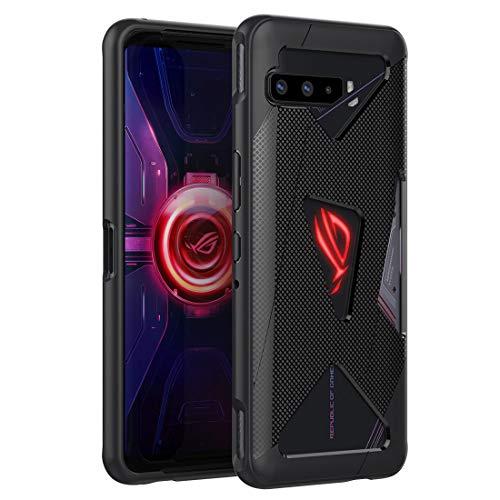 Cresee ROG - Funda para teléfono 3, compatible con disparador de aire, flexible, antiarañazos, accesorio para ASUS ROG Phone 3 ZS661KS / ROG Phone 3 Strix Edition 2020, color negro